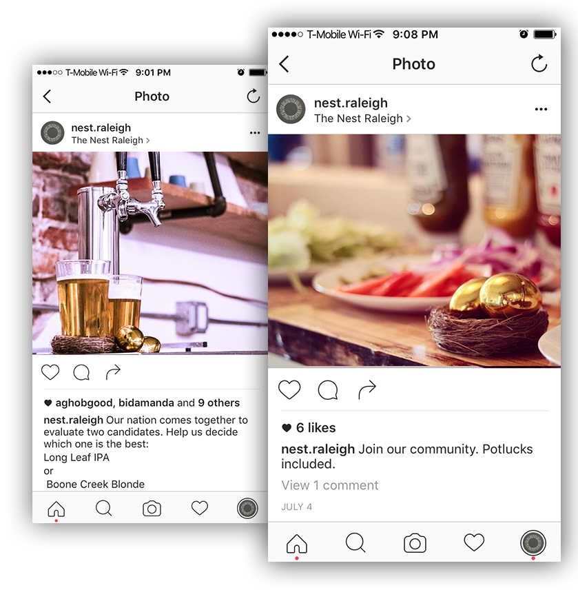Nest Raleigh Instagram Social Media Marketing by Quillor