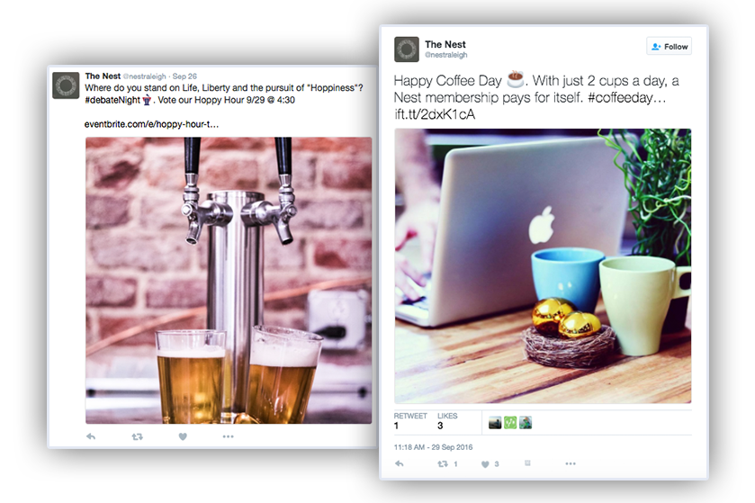 Nest Raleigh Twitter Social Media Marketing by Quillor